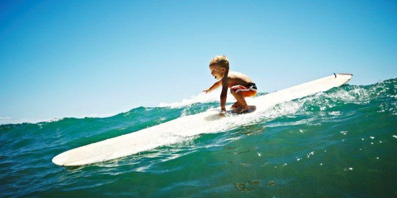 серфинг для малышей