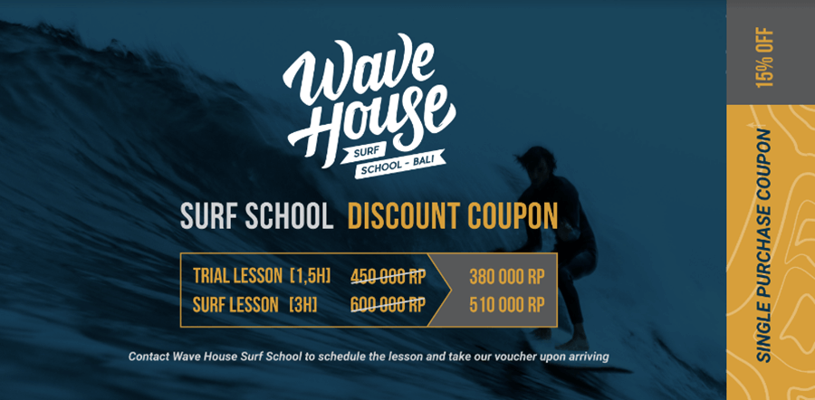 15% off for all surf lessons